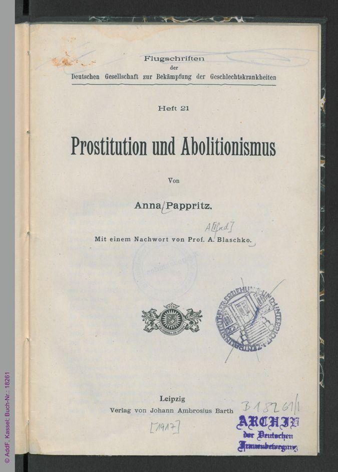 Prostitution und Abolitionismus / Seite 5