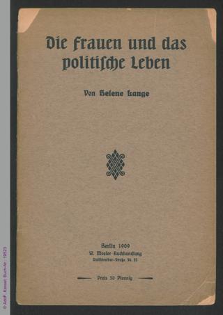Die Frauen und das politische Leben