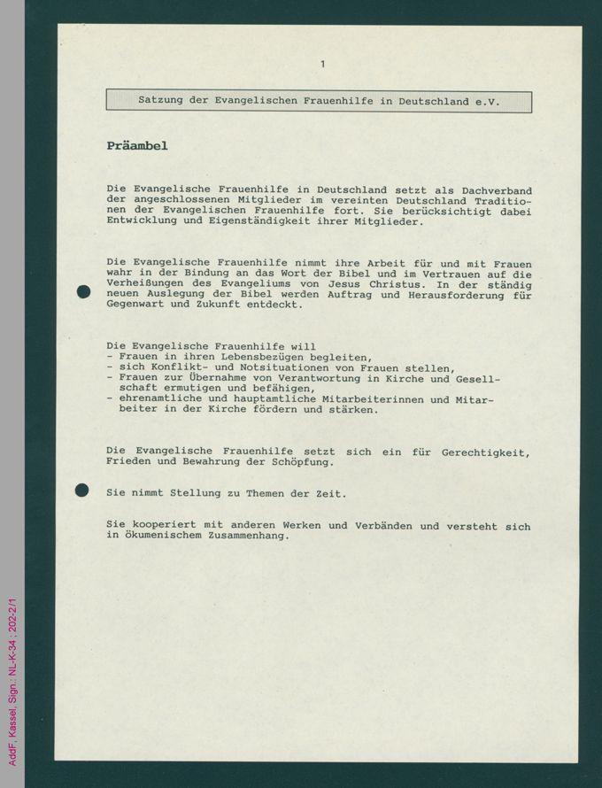 Satzung der EFHiD vom 18.5.1992 / Seite 1