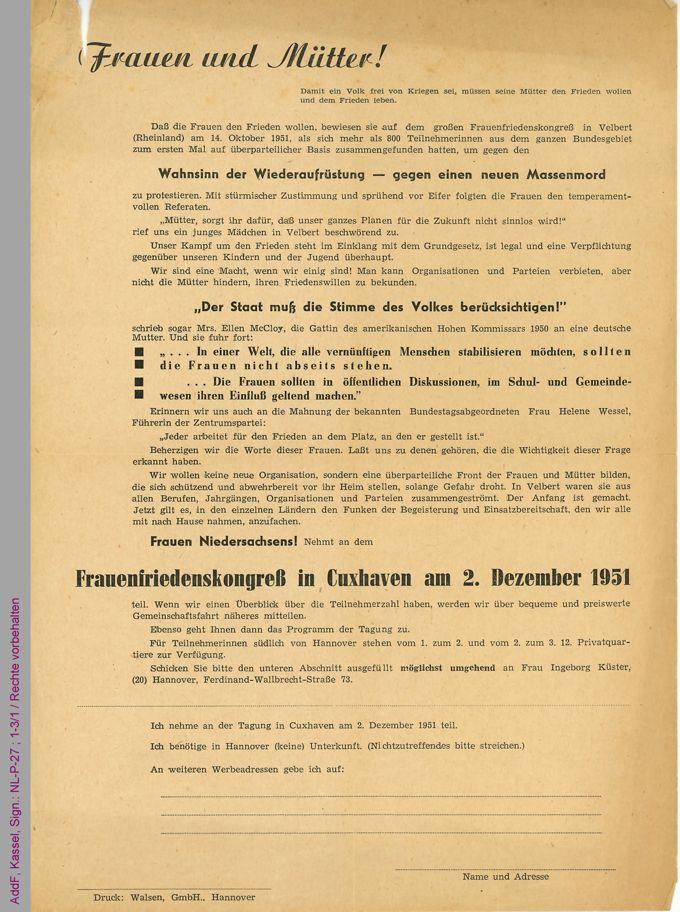 Flugblatt / Seite 1