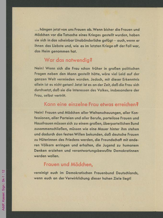 Faltblatt Die Zukunft und das Glück unserer Kinder / Seite 2