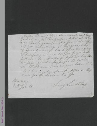 Brieffragment von Fanny Lewald, hs.