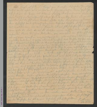 Brief von Bettine von Arnim an Sophie Reichardt, hs.