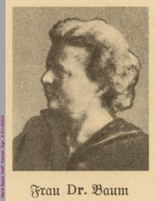 Porträt von Marie Baum