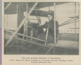 Kätchen Paulus, erste deutsche Berufsluftschifferin