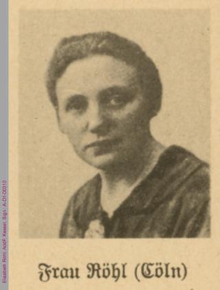 Porträt von Elisabeth Röhl