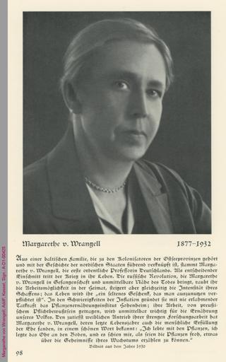 Porträt von Margarethe von Wrangell
