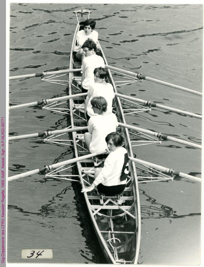 Gig-Doppelvierer des CFRV, Kasseler Regatta, 1968