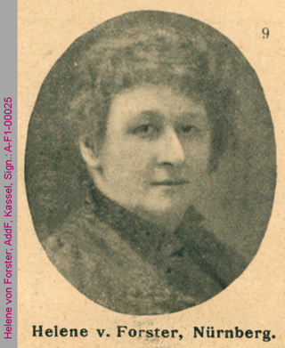 Porträt von Helene von Forster