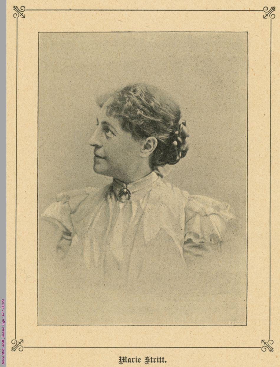 Porträt von Marie Stritt