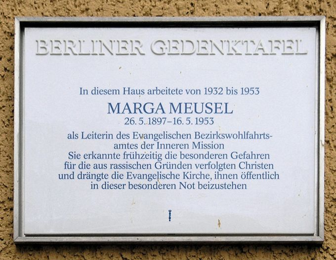 Berliner Gedenktafel Marga Meusel