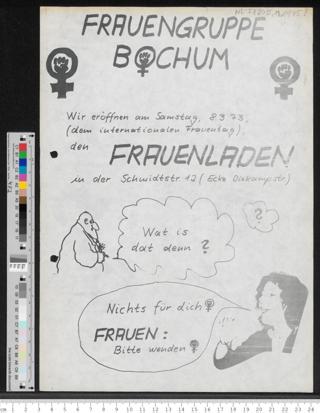 Eröffnung des Frauenladens der Frauengruppe Bochum
