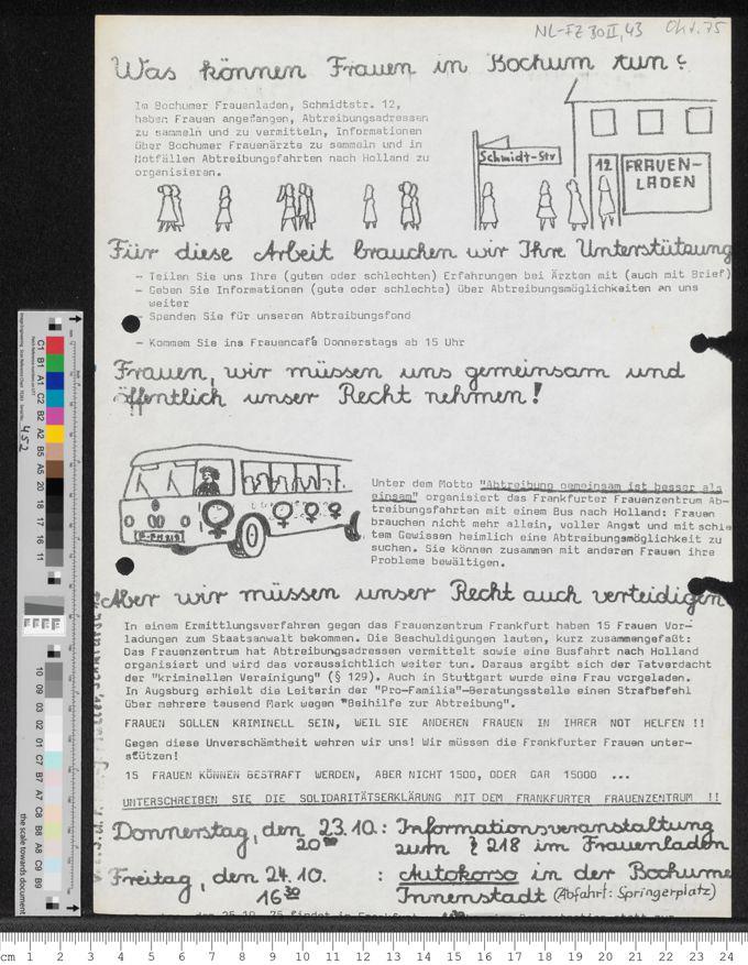 Was können Frauen in Bochum tun? / Seite 1