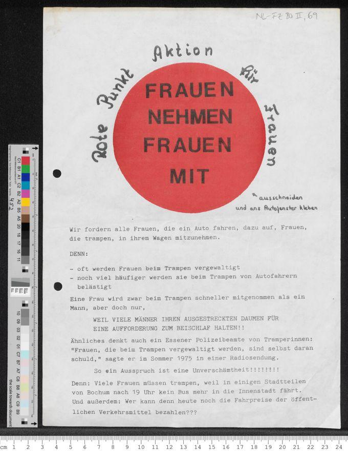 Rote Punkt Aktion für Frauen nehmen Frauen mit / Seite 1