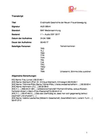 """""""Geschichte der Neuen Frauenbewegung (nicht nur) in Tübingen"""", Erzählcafé 2a zur Ausstellung """"08. März"""" im Tübinger Stadtmuseum"""
