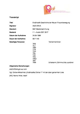 """""""Geschichte der Neuen Frauenbewegung (nicht nur) in Tübingen"""", Erzählcafé 2b zur Ausstellung """"08. März"""" im Tübinger Stadtmuseum"""