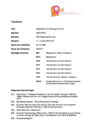 """""""30 Jahre Neue Frauenbewegung in Tübingen"""" , Podium 2/2 mit Moltmann-Wendel, Balbarischky, Alfonsi, Barz zur Ausstellung """"In Bewegung"""" in der Tübinger Kulturhalle"""