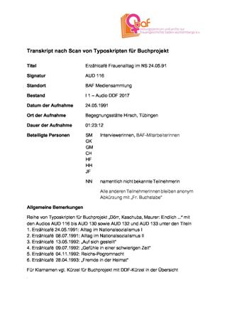 """""""Frauenalltag im Nationalsozialismus"""", Erzählcafé zu gleichnamiger Reihe, 1/6 Kopie"""