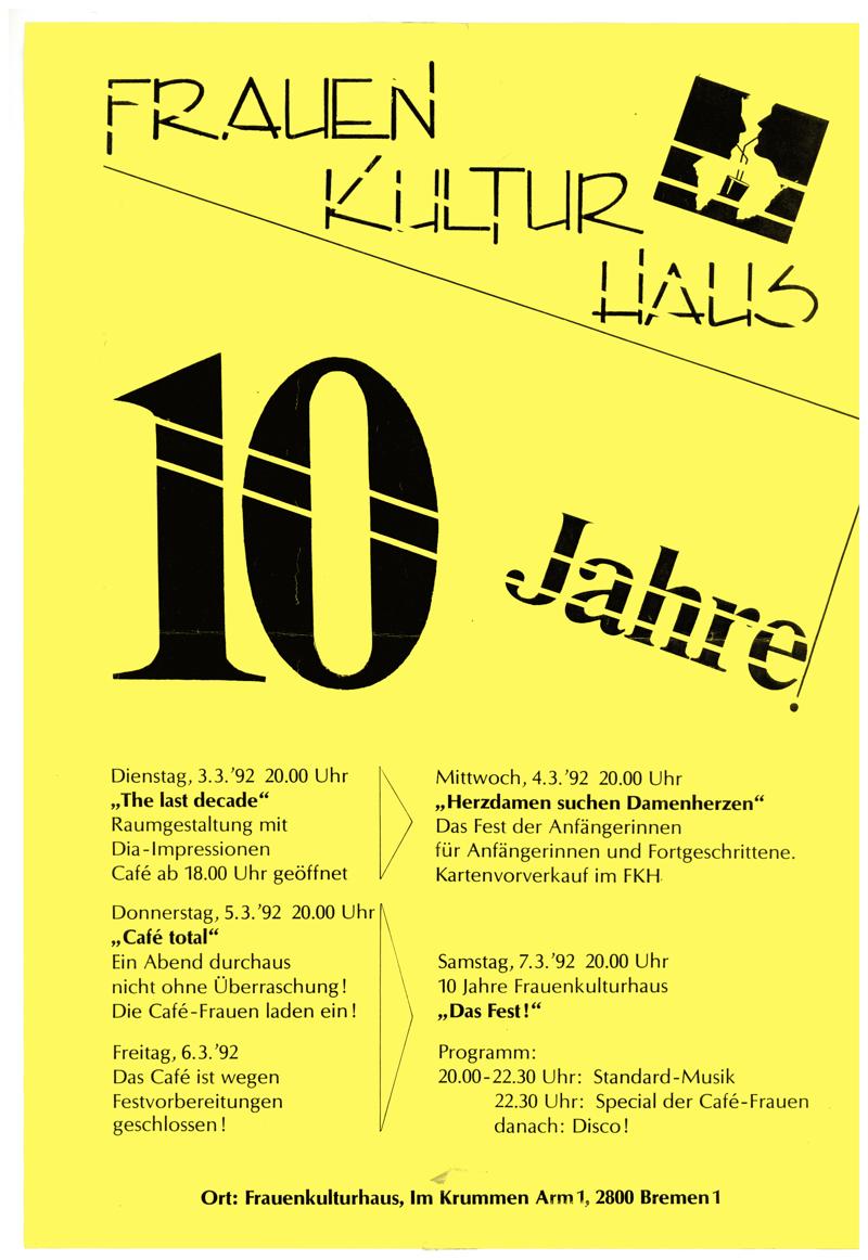 Zehn [10] Jahre Frauenkulturhaus