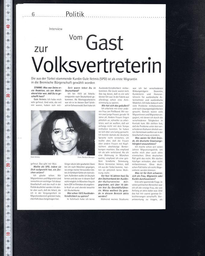 Stimme 7/99 : Zeitschrift für In- und AusländerInnen im Lande Bremen