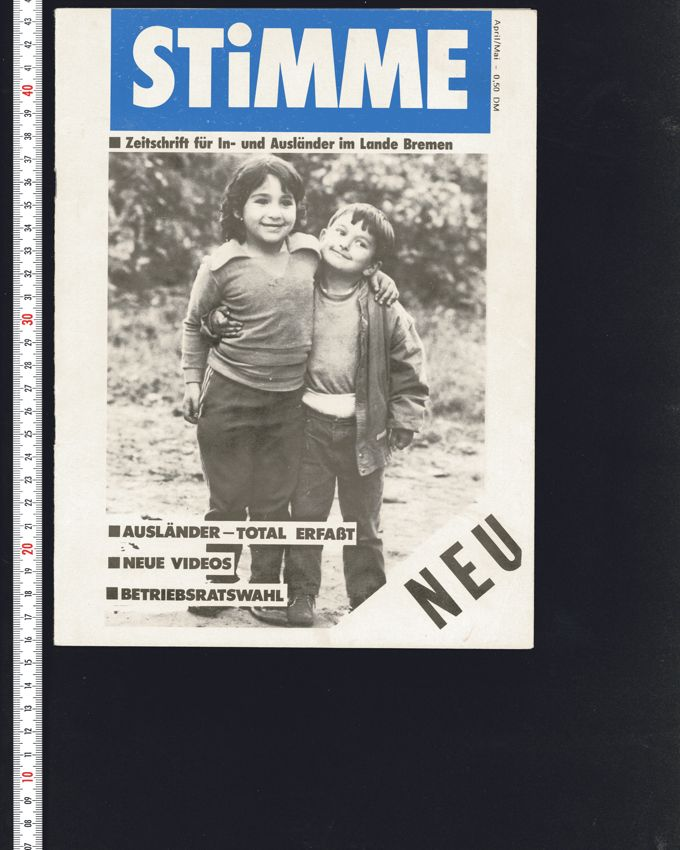 Stimme 04-05/1987 : Zeitschrift für In- und Ausländer im Lande Bremen