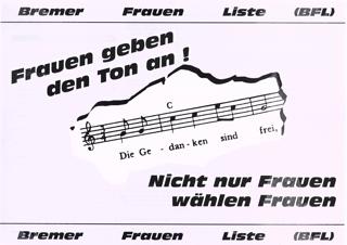 Vermischtes zur Bremer Frauenliste, BFL IV