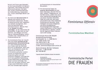 """Vermischtes zur Feministischen Partei """"Die Frauen"""" III"""