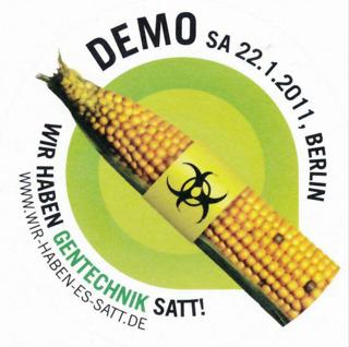 Demonstration anlässlich des Lebensmittelskandals: Dioxin in Eiern und Fleisch auf Grund von verseuchtem Tierfutter