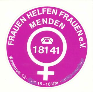 Eigenwerbung des Frauen helfen Frauen e.V., Menden