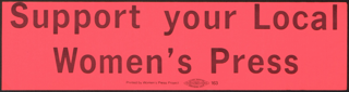 Aufruf zur Unterstützung der lokalen Frauenpresse