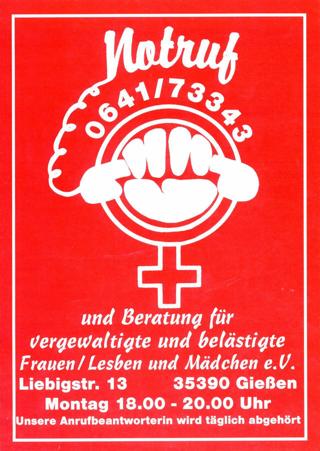 Eigenwerbung der Notrufgruppe Gießen