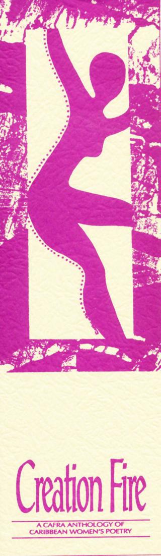 Eigenwerbung für eine Anthologie von Frauenpoesie aus der Karibik