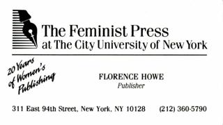 Visitenkarte einer New Yorker Verlegerin