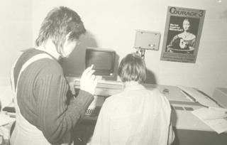 Mitarbeiterinnen der Frauenzeitung Courage