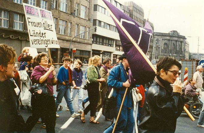 FFBIZ auf West-Ost Frauendemonstration