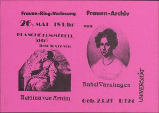 Bettina v. Arnim und Rahel Varnhagen