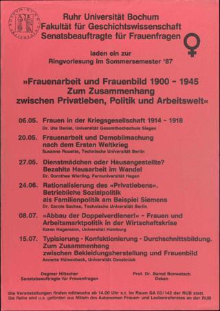 Frauenarbeit und Frauenbild 1900-1945