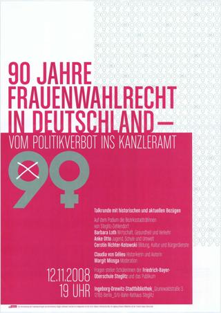 90 Jahre Frauenwahlrecht in Deutschland vom Politikverbot ins Kanzleramt