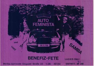 Benefiz-Fete von Auto femnista