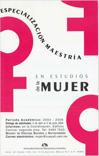 Especialización Maestría en Estudios de la Mujer