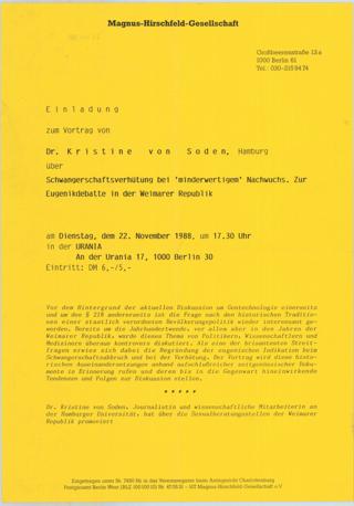"""Schwangerschaftsverhütung bei """"minderwertigem"""" Nachwuchs Zur Eugenik-Debatte in der Weimarer Republik"""