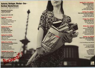 1, 2: Ex libris Berliner Bücherforum 3, 4: Wandzeitungen zum Plakat