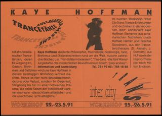 Kaye Hoffmann Afrobrasilianische Trancetänze Inter City Trans