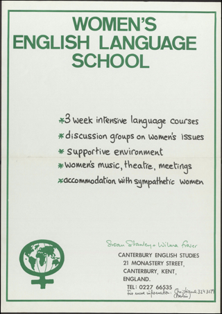 Canterbury english studies Women's english language school