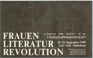 Frauen - Literatur - Revolution