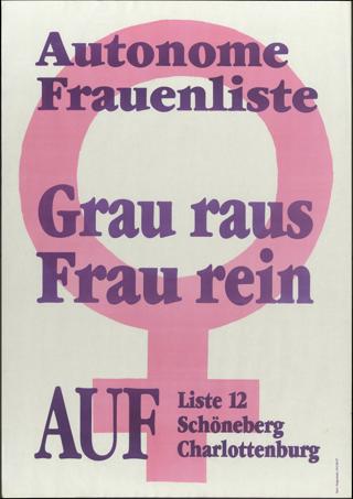 Autonome Frauenliste Grau raus - Frau rein