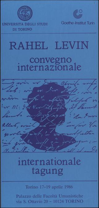 Rahel Levin Convegno internazionale