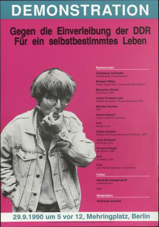 Gegen die Einverleibung der DDR \[W9]\Für ein selbstbestimmtes Leben