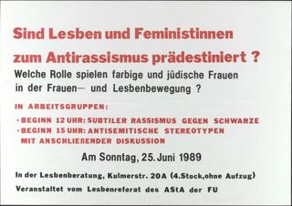 Sind Lesben und Feministinnen zum Antirassismus prädestiniert?
