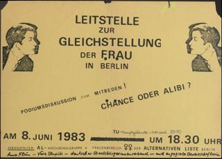 Leitstelle zur Gleichstellung der Frau in Berlin Chance oder Alibi?